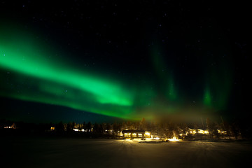 Aurora over Kakslauttanen