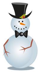 snowman on white background