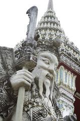 guardian statue in thai temple