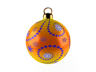 Christmas ball on white background