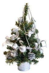 isolated small christmas tree