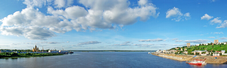 Panoramic view of Oka river in Nizhny Novgorod