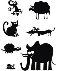 Silhouettes des animaux 2
