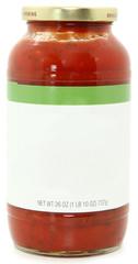 Blank Label Jar of Speghetti Sauce