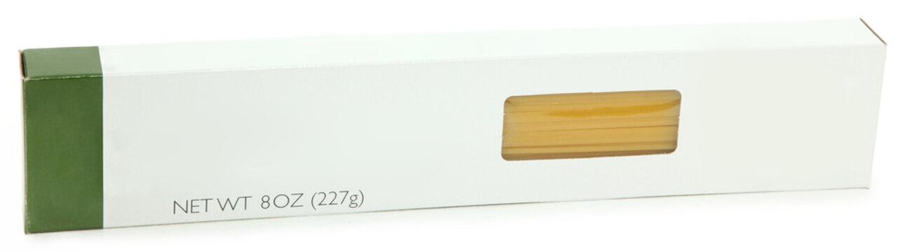 Spaghetti Pasta Box Blank Label