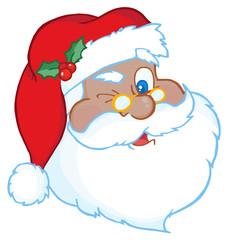 African American Santa Claus Winking