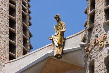 Detail of Gaudi's Sagrada Familia in Barcelona, Spain