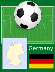 Germany soccer football sport world flag map