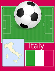 Italy soccer football sport world flag map