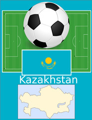 Kazakhstan soccer football sport world flag map