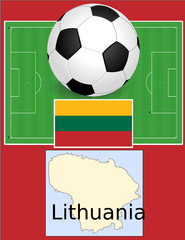 Lithuania soccer football sport world flag map