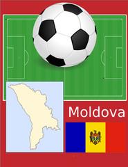 Moldova soccer football sport world flag map