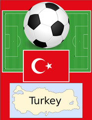 Turkey soccer football sport world flag map