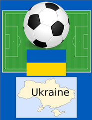 Ukraine soccer football sport world flag map