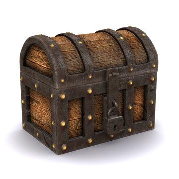 3d Treasure chest closed