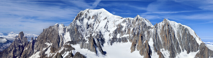 vista panoramica cul monte bianco
