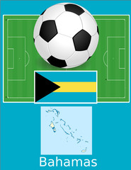 Bahamas soccer football sport world flag map