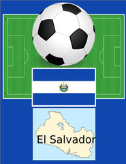 El Salvador soccer football sport world flag map