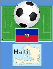 Haiti soccer football sport world flag map