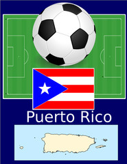 Puerto Rico soccer football sport world flag map