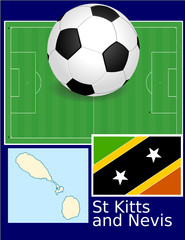 St Kitts and Nevis soccer football sport world flag map