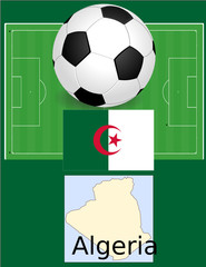Algeria soccer football sport world flag map