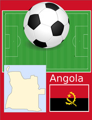 Angola soccer football sport world flag map