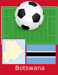 Botswana soccer football sport world flag map