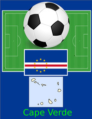 Cape Verde soccer football sport world flag map