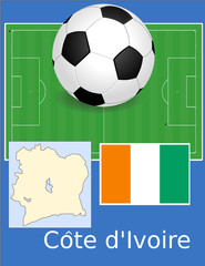 Cote d'ivoire soccer football sport world flag map