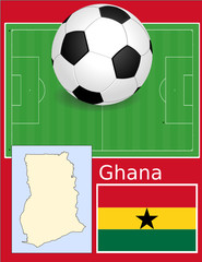 Ghana soccer football sport world flag map