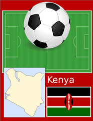 Kenya soccer football sport world flag map