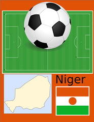 Niger soccer football sport world flag map