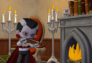 vampir mit violiene