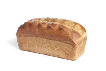 Whole single fresh loaf of bread