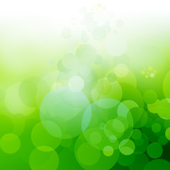 Background for spring in green