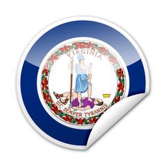 Pegatina bandera Virginia con reborde