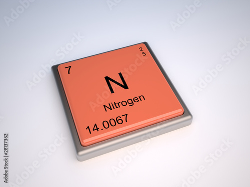 Nitrogen Chemical Element Of Periodic Table With Symbol N Stock