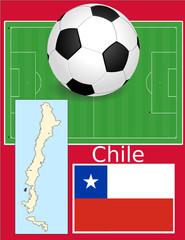Chile soccer football sport world flag map