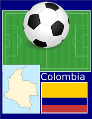 Colombia soccer football sport world flag map