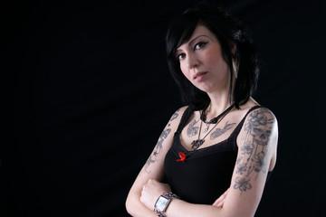 Oberarm Tattoos Gothic Girl