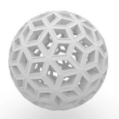 3d blank decorative sphere