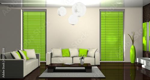 3d wohnzimmer grün\