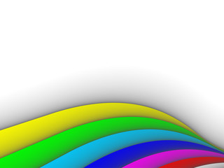 colorful 3ds lines, vector background