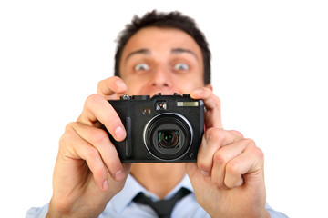 Man with photo camera.