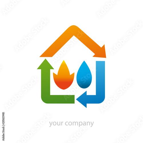 Logo entreprise maison nergie renouvelable fichier vectoriel l - Maison a energie renouvelable ...