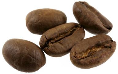 Aluminium Prints Coffee beans quelques grains de café