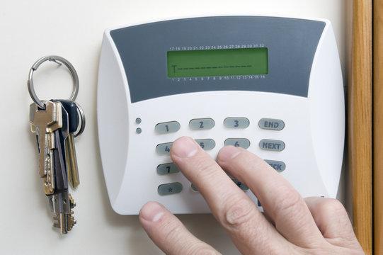Burglar alarm in the house