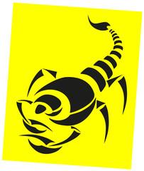 vector tattoo - black scorpion