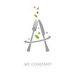logo entreprise, restaurant, traiteur